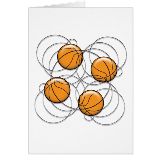 4 Basketball Pattern - 3D Card