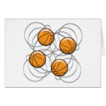 4 Basketball Pattern - 3D Greeting Card