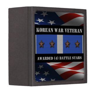 4 BATTLE STARS KOREAN WAR VETERAN GIFT BOX