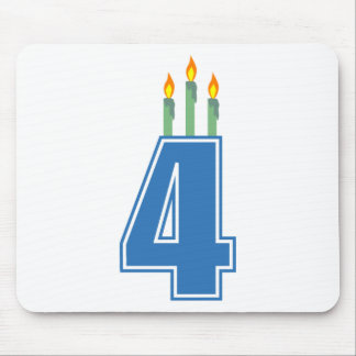 4 Birthday Candles (Blue / Green) Mouse Pad