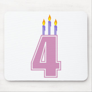 4 Birthday Candles (Pink / Purple) Mouse Pad