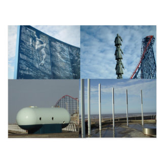 4 Blackpool Sculptures Post Cards
