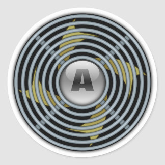 4 Blade Reversible Exhaust Fan Classic Round Sticker