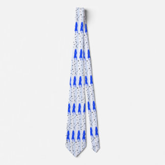 4 Blue Grad Girls Silhouettes Neck Tie