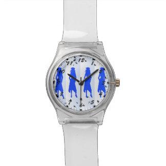 4 Blue Grad Girls Silhouettes Watch