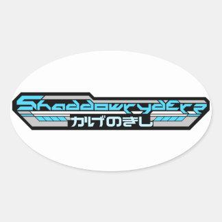 """4"""" BLUE SHADDOWRYDERZ STICKER (4 PACK)"""