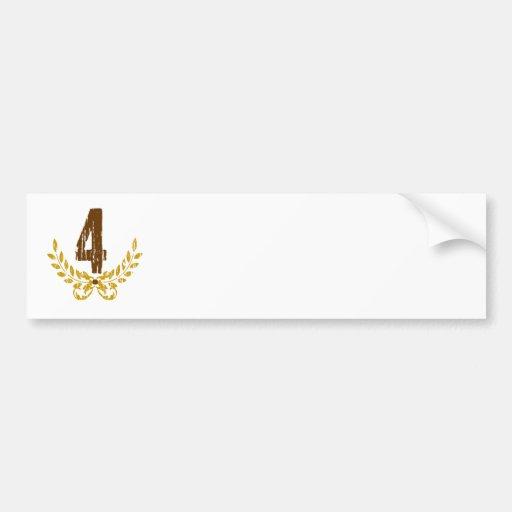 #4 Brown & Gold Wreath Bumper Sticker