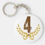#4 Brown & Gold Wreath Key Chain