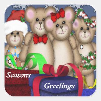 4 Buddies Christmas Square Sticker