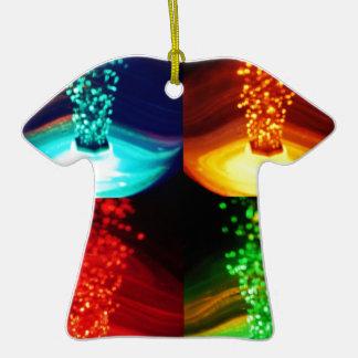 4 burbujas del color adorno de cerámica en forma de playera