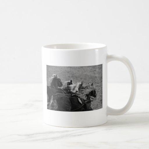 4 caballos taza de café