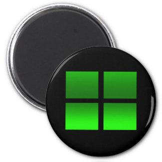 4 cajas de la pendiente en verde imán redondo 5 cm