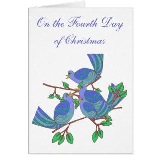 4 Calling Birds Greeting Card