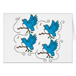 4 Calling Birds Greeting Card