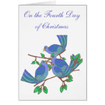 4 Calling Birds Greeting Cards