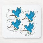 4 Calling Birds Mousepad