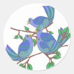 4 Calling Birds Round Sticker