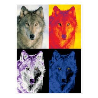 4 caras del lobo postal