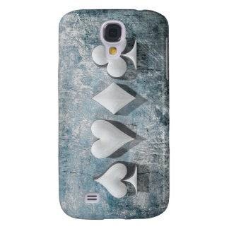 4 Card Suits (3D Poker / Casino Artwork) Samsung Galaxy S4 Cover