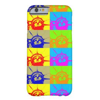 4 caso del iPhone 6 de señora Liberty del arte pop Funda Barely There iPhone 6
