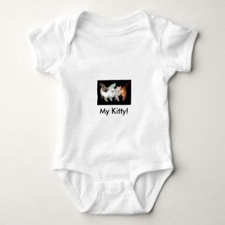 4 cats baby bodysuit