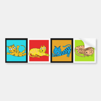 4 Cats Illustration Sticker 5