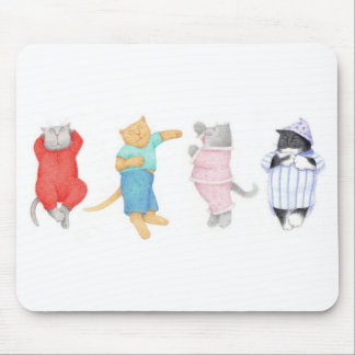 4 Cats in Pajamas Mousepad
