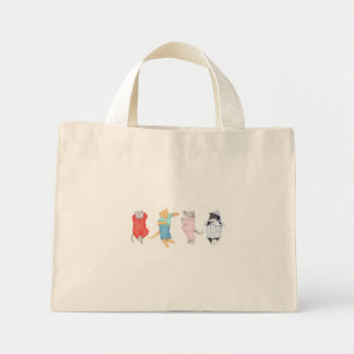 4 Cats in Pajamas Tiny Tote