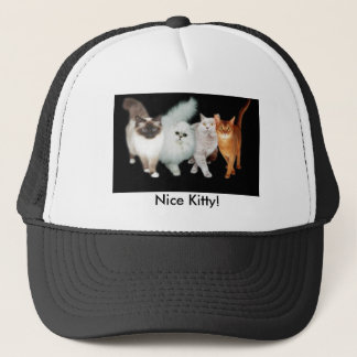 4 cats trucker hat