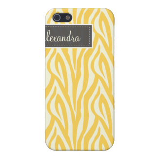 4 cebra Pern (limón) iPhone 5 Carcasa