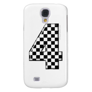 4 checkered auto racing number samsung galaxy s4 cover