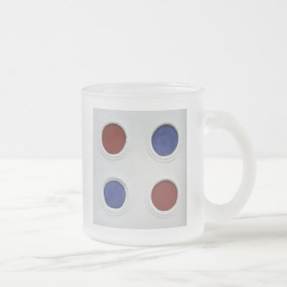 4 circles frosted glass coffee mug