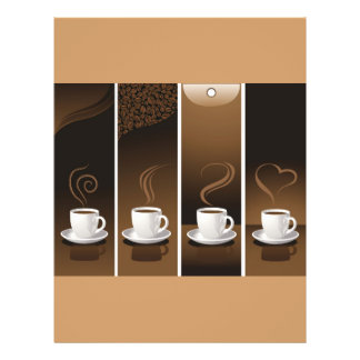 4 Coffee Cups in vector Flyer