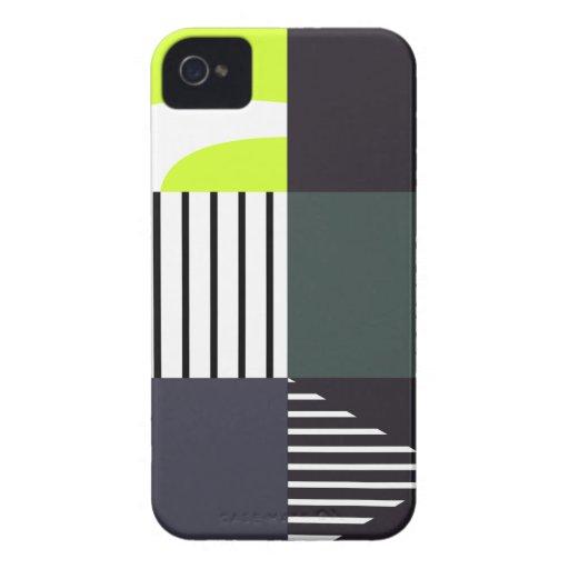 4 Color-Bloqueados modernos Case-Mate iPhone 4 Cárcasa