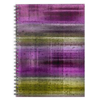 4 Color Choices - Grungy Plaid Spiral Notebook