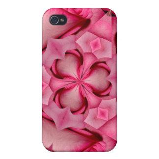 4 color de rosa rosados iPhone 4/4S funda