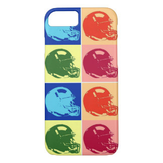 4 Color Pop Art Football Helmet iPhone 7 Case