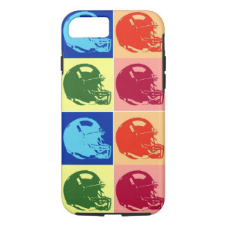 4 Color Pop Art Football Helmet iPhone 8/7 Case