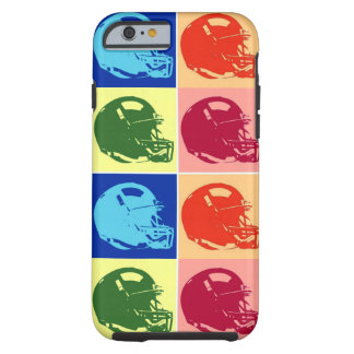 4 Color Pop Art Football Helmet Tough iPhone 6 Case