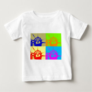 4 Color Pop Art Lady Liberty Baby T-Shirt