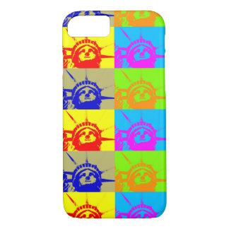 4 Color Pop Art Lady Liberty iPhone 7 Case