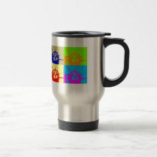 4 Color Pop Art Lady Liberty 15 Oz Stainless Steel Travel Mug