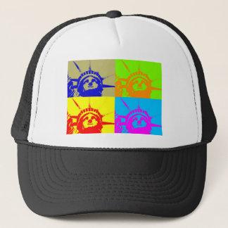 4 Color Pop Art Lady Liberty Trucker Hat