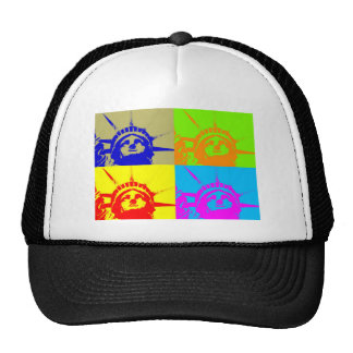 4 Color Pop Art Lady Liberty Trucker Hat