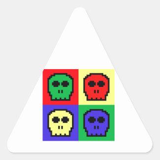 4 Color Retro 8-bit Skulls Stickers