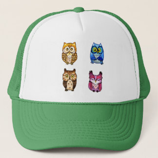 4 Colorful owls Trucker Hat