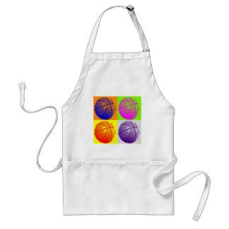 4 Colors Pop Art Basketball Aprons