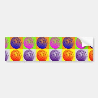 4 Colors Pop Art Basketball Bumper Sticker