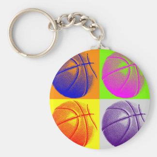 4 Colors Pop Art Basketball Keychain