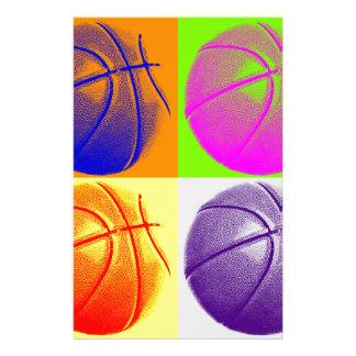 4 Colors Pop Art Basketball Stationery